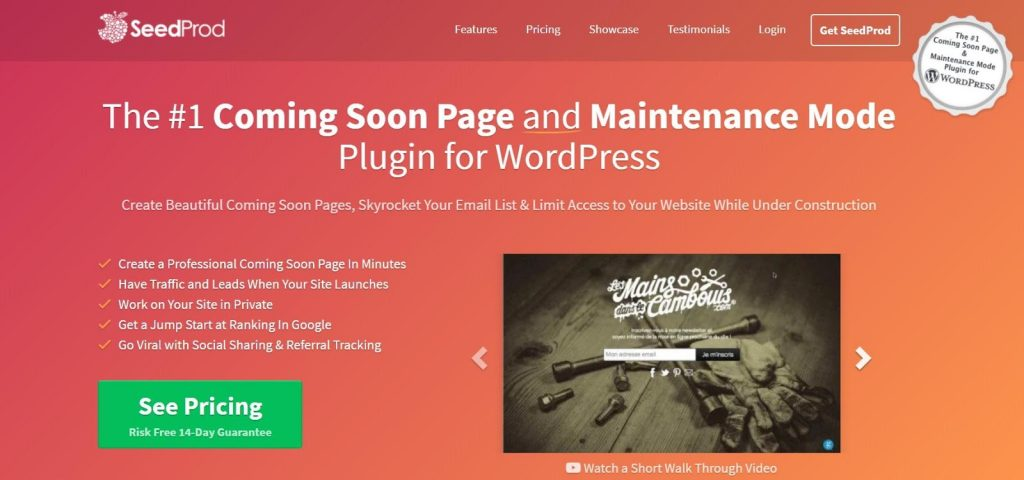 wordpress maintenance mode using a plugin